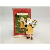 Hallmark Series Ornament 2001 Toymaker Santa #2 - Tea Party - #QX8032-DB