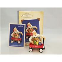 Hallmark Series Ornament 2004 Toymaker Santa #5 - Wagon of Toys - #QX8124