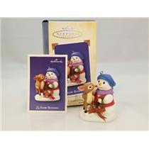 Hallmark Series Ornament 2004 Snow Buddies #7 - Snowman and Fawn - #QX8131-NT
