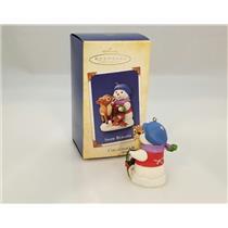 Hallmark Series Ornament 2004 Snow Buddies #7 - Snowman and Fawn - #QX8131-DBNMC