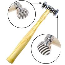 "10-1/4"" Length, Face Dia: 1-1/8"" Dual Face Texturing (Stripe & Square) Hammer"
