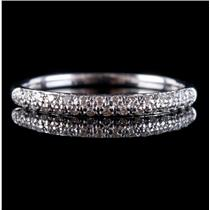14k White Gold Round Cut Diamond Wedding Anniversary Band / Ring .39ctw