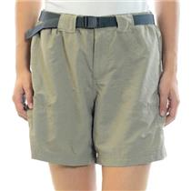 Size S Columbia Woman's Beige/Khaki Outdoor Belted Athletic Mid Length Shorts