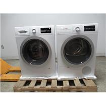 "Bosch 500 24"" Front Load Washer & Dryer SET+Stacking Kit WAT28401UC / WTG86401UC (4)"