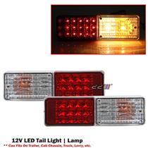 2x LED Tail Lights 12V Brake Reverse Indicator Lights For Trailer Truck Boat UTE