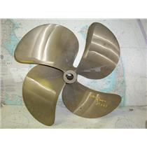 """Boaters' Resale Shop of TX 1803 2444.01 FOUR BLADE 21RH21 PROP FOR 1.5"""" SHAFT"""