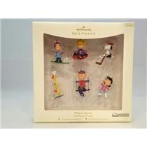 Hallmark Miniature Ornaments 2007 Winter Sports - Peanuts Gang Set - #QXM8149