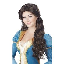 Brunette Medieval Beauty Wig