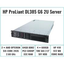 HP ProLiant DL385 G6 2×Six-Core 2435 Opteron 2.6GHz + 64GB RAM + 4×600GB SAS