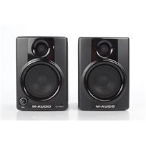 """2 M-Audio Studiophile AV30 Compact Monitor Speakers w/ 1/8""""-RCA Cable AV #32321"""