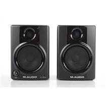 """2 M-Audio Studiophile AV30 Compact Monitor Speakers w/ 1/8""""-RCA Cable AV #32332"""