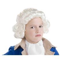 Historical White George Washington Colonial Boy Child Wig