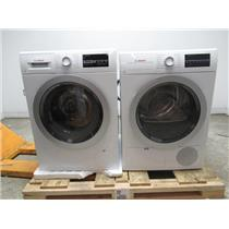 "Bosch 500 24"" Front Load Washer & Dryer SET+Stacking Kit WAT28401UC/WTG86401UC"
