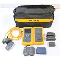 Fluke DSP-4100 Ethernet & Fiber Cable Tester with DSP-4100SR Smart Remote