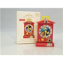Hallmark Magic Ornament 2011 Music Box Teaching Clock  Fisher Price #QXI2459-SDB