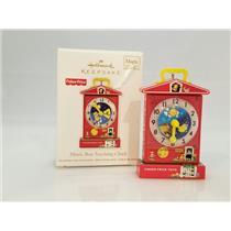 Hallmark Magic Ornament 2011 Music Box Teaching Clock - Fisher Price #QXI2459-DB