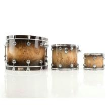 DW Collectors Exotic 3 Piece Mapa Burl Drum Shell Pack Stevie Nicks  #23780