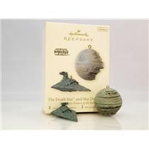 Hallmark Miniature Ornaments 2008 The Death Star and Star Destroyer - #QXM8151