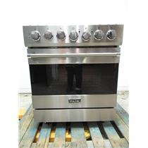 "Viking 3 Series 30"" 4.0 c.f 5 Sealed Burners Freestanding Gas Range RVGR33025BSS"