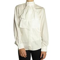 Size 30 NWT Miku Ladies Long Sleeve Vented White Riding Show Shirt w/Collar