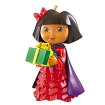 American Greetings 2011 Dora the Explorer Holding Green Present - #AGOR109Z-SDB