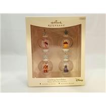 Hallmark Miniature Ornament Set 2007 Catching Snowflakes - Pooh - #QXM8139-SDB
