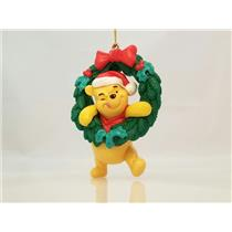 Disney Ornament Winnie the Pooh With Wreath and Red Bow - #DPWW-NOBOX