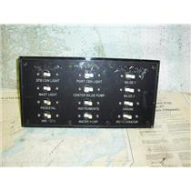 Boaters Resale Shop of TX 1804 1252.01 WHITBY 42 DC PANEL WITH 12 BREAKERS