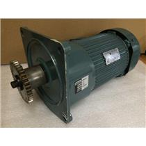 Yaskawa Electric FECQ-T 3 Phase Induction Motor with GTR GFMN-32 add on