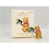 Hallmark Miniature Ornament 2012 Yuletide Ride - Teddy on Hobby Horse - #QXM9024