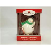 Carlton American Greetings Ornament 2010 Grandpa - Snowman - #AXOR252X-SDB