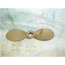 """Boaters' Resale Shop of TX 1711 2545.01 BRONZE 11RH7 TWO BLADE PROP - 7/8"""" SHAFT"""