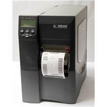 Zebra ZM400 ZM400-3001-5100T Thermal Barcode Label Print USB Network Peel Rewind
