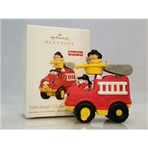Hallmark Ornament 2011 Little People Li'l Movers Fire Truck Fisher Price QXI2467