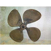 "Boaters' Resale Shop of TX 1806 0145.07 BRONZE 4 BLADE 24RH25 PROP - 1.5"" SHAFT"