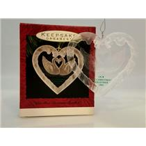Hallmark Ornament 1993 Our First Christmas Together - Swans in Heart #QX3015-SDB