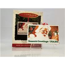 Hallmark Series Ornament 1993 U S Christmas Stamps #1 - Santa Claus - #QX5292