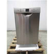 """Bosch 300 Series 18"""" 46 dBA 4 Cycles Built-In-Dishwasher Stainless SPE53U55UC"""