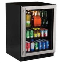 "Marvel 5.6 Cu. Ft. 24"" Stainless Steel Glass Door Beverage Center ML24BCG0RS"