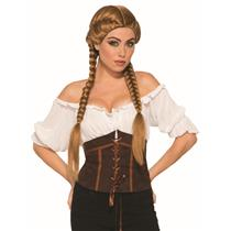 Brown Braided Oktoberfest Beer Garden Girl Wig