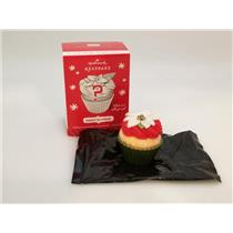 Hallmark Ornament 2014 Sweet Surprise - Green Wrapper Repaint Cupcake #QK5006-GR