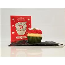 Hallmark Ornament 2014 Sweet Surprise - Green Repaint Cupcake - #QK5006-GR-SDB