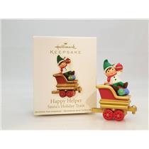 Hallmark Miniature Ornament 2011 Happy Helper - Santa's Holiday Train - #QRP5909