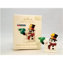 Hallmark Miniature Series Ornament 2008 Winter Fun With Snoopy #11 - #QXM4011-DB