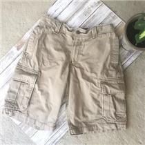 Sz 30 Lucky Brand Mens Vintage Khaki Flap Pocket Flat Front Shorts Y9D4010