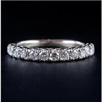 14k White Gold Round Brilliant Cut Diamond Wedding / Anniversary Ring .45ctw