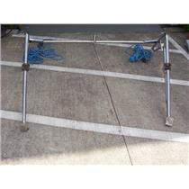 Boaters' Resale Shop of TX 1806 1772.01 STAINLESS STEEL DINGHY DAVITS WITH STRUT