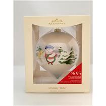 Hallmark Ornament 2008 A Holiday Hello - Snow Buddies Ceramic Ball - LPR3404-SDB
