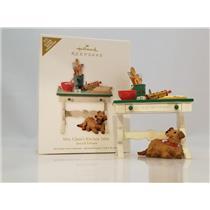Hallmark Event Ornament 2012 Mrs Claus's Kitchen Table - Artist Signed  #QMP5035