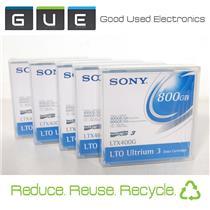 Lot of 5 New Sony LTX400G Ultrium 3 800GB Data Tapes